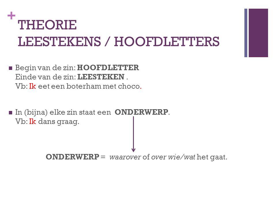THEORIE LEESTEKENS / HOOFDLETTERS