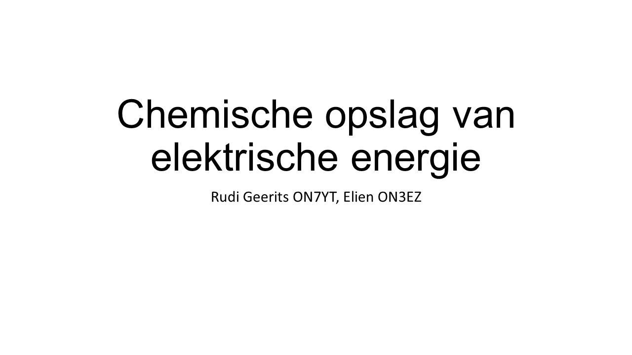 Chemische opslag van elektrische energie