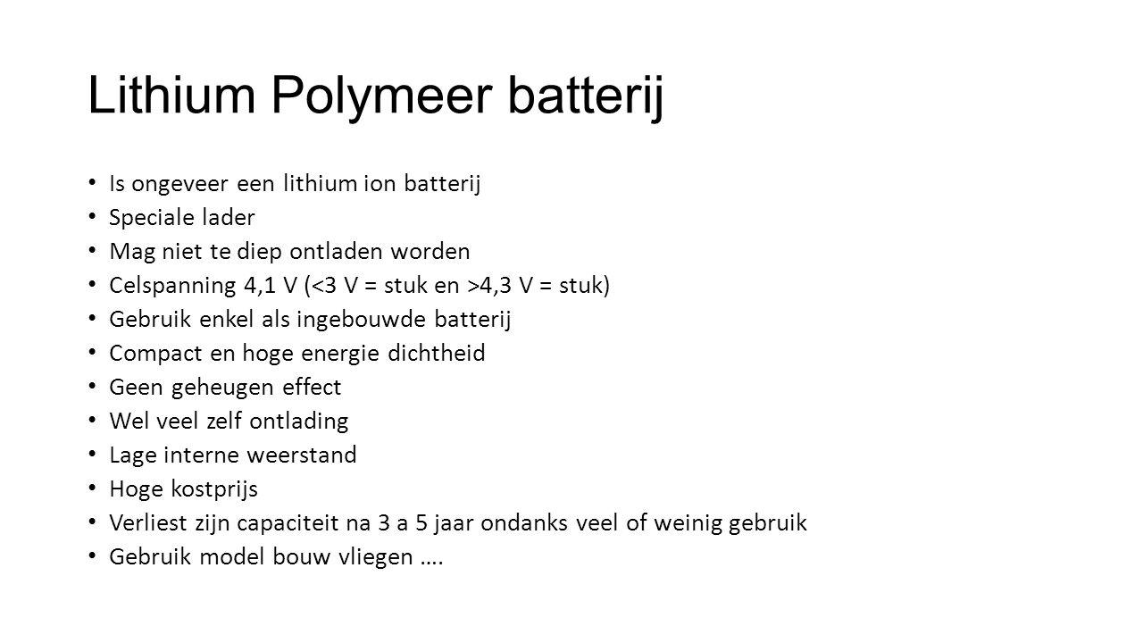 Lithium Polymeer batterij
