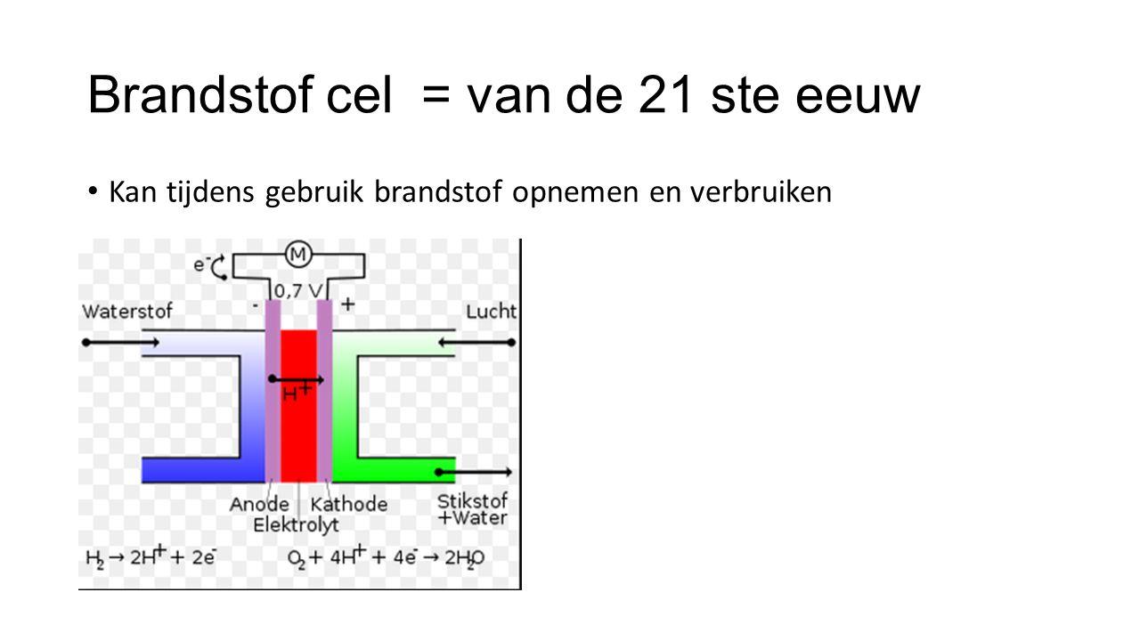 Brandstof cel = van de 21 ste eeuw