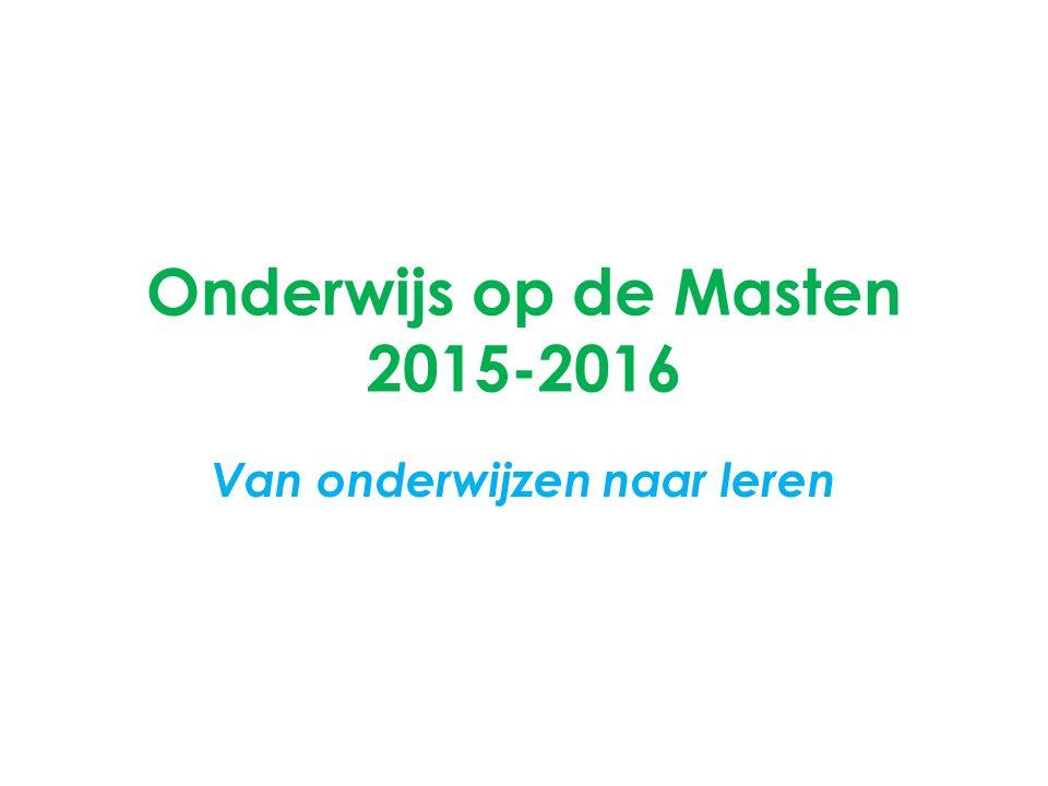 Onderwijs op de Masten 2015-2016