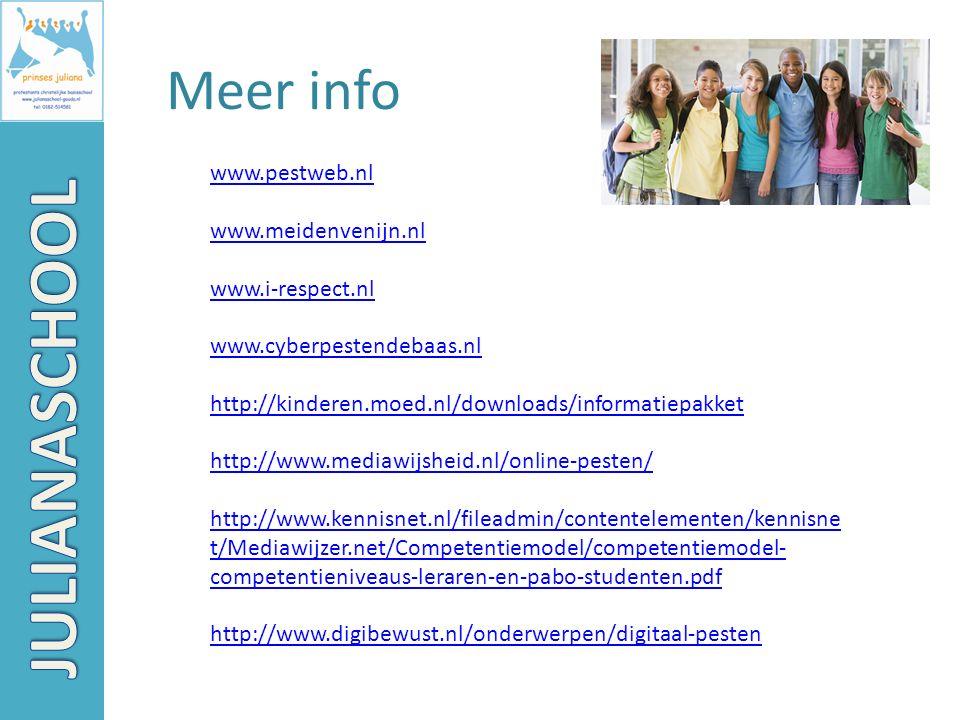 JULIANASCHOOL Meer info www.pestweb.nl www.meidenvenijn.nl
