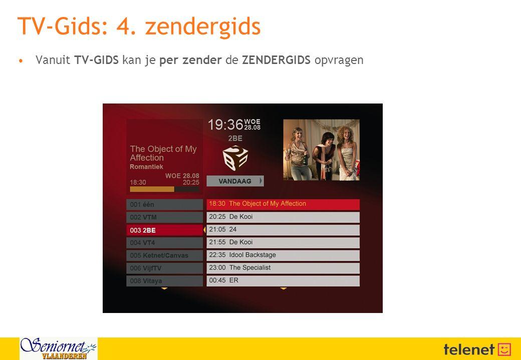 TV-Gids: 4. zendergids 23/04/2017 02:58:01. Vanuit TV-GIDS kan je per zender de ZENDERGIDS opvragen.