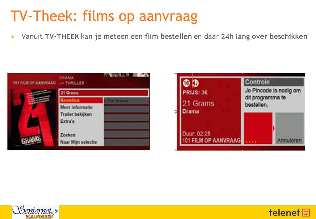TV-Theek: films op aanvraag