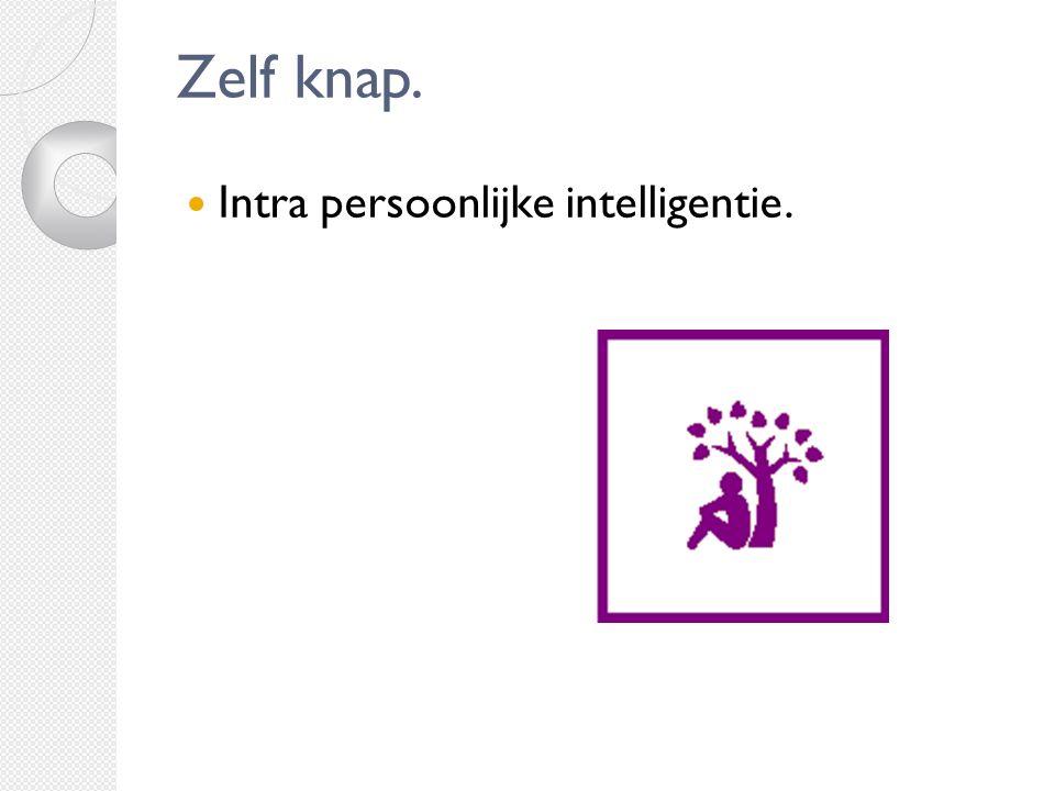 Zelf knap. Intra persoonlijke intelligentie.