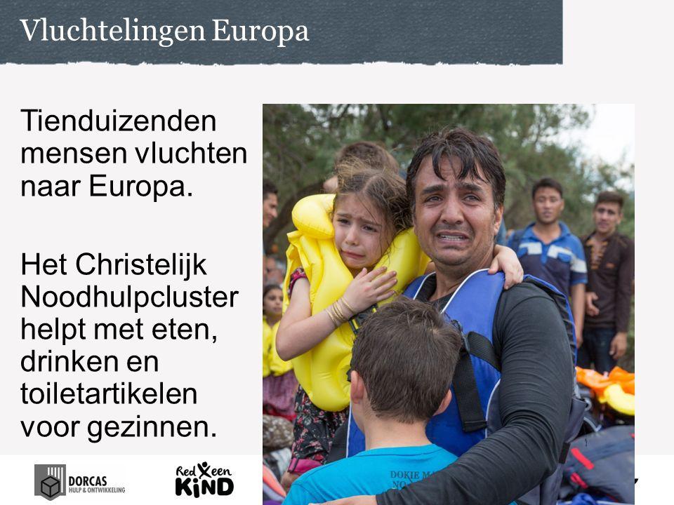 Vluchtelingen Europa Tienduizenden mensen vluchten naar Europa.