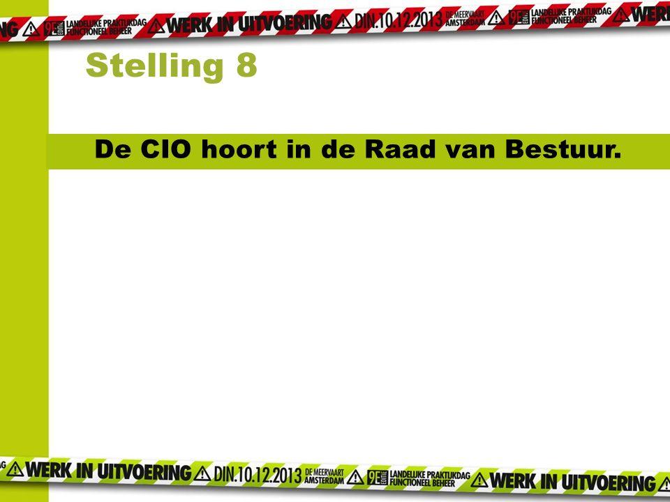 De CIO hoort in de Raad van Bestuur.