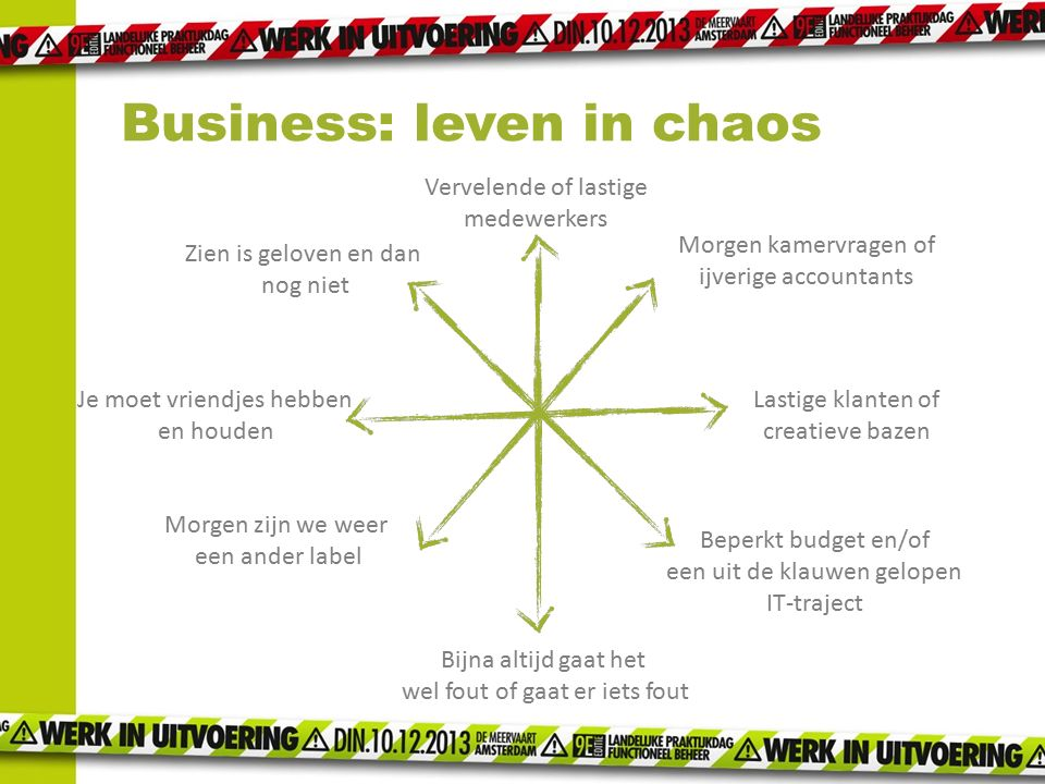 Business: leven in chaos