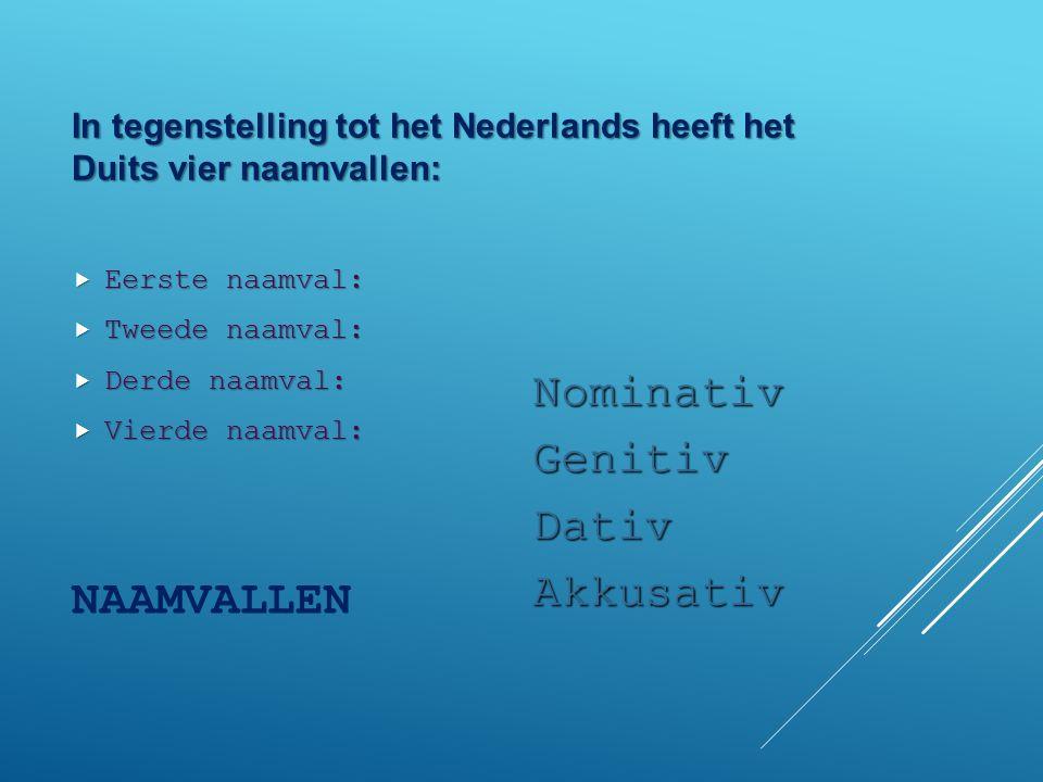 Naamvallen naamvallen ppt video online download for Nominativ genitiv dativ akkusativ
