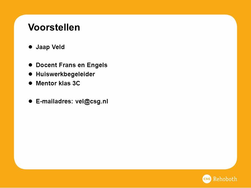 Voorstellen Jaap Veld Docent Frans en Engels Huiswerkbegeleider