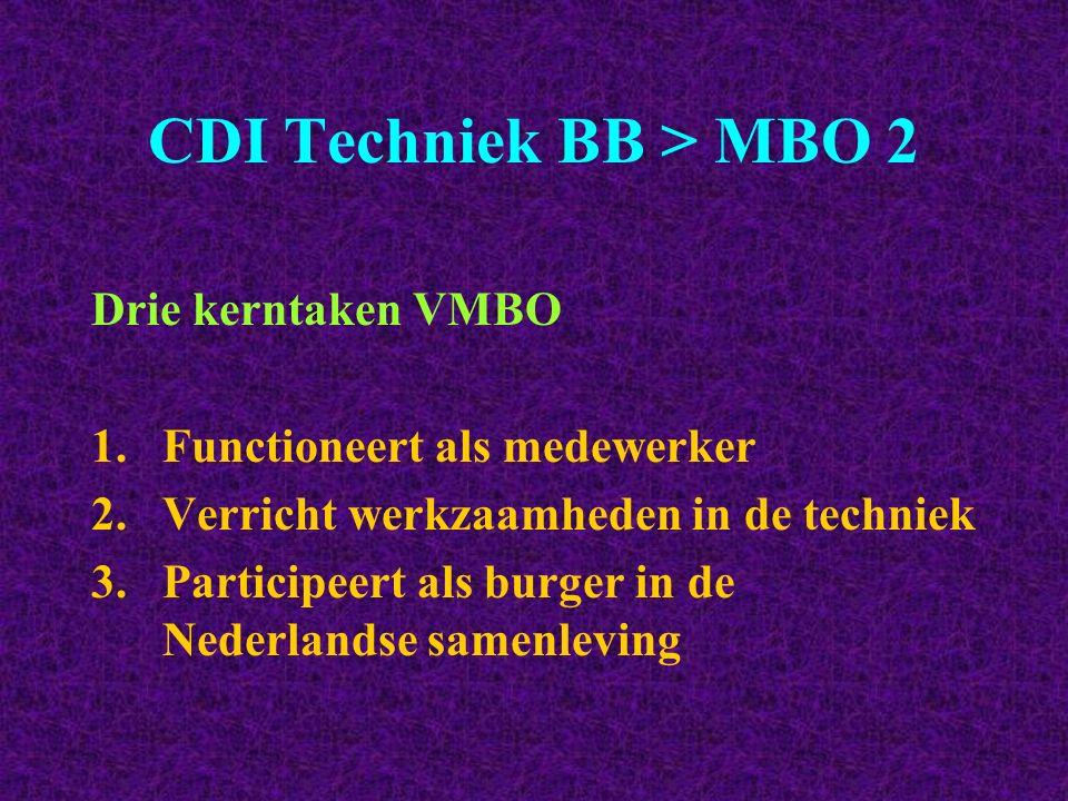 CDI Techniek BB > MBO 2