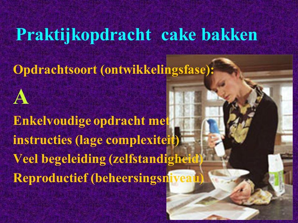 Praktijkopdracht cake bakken