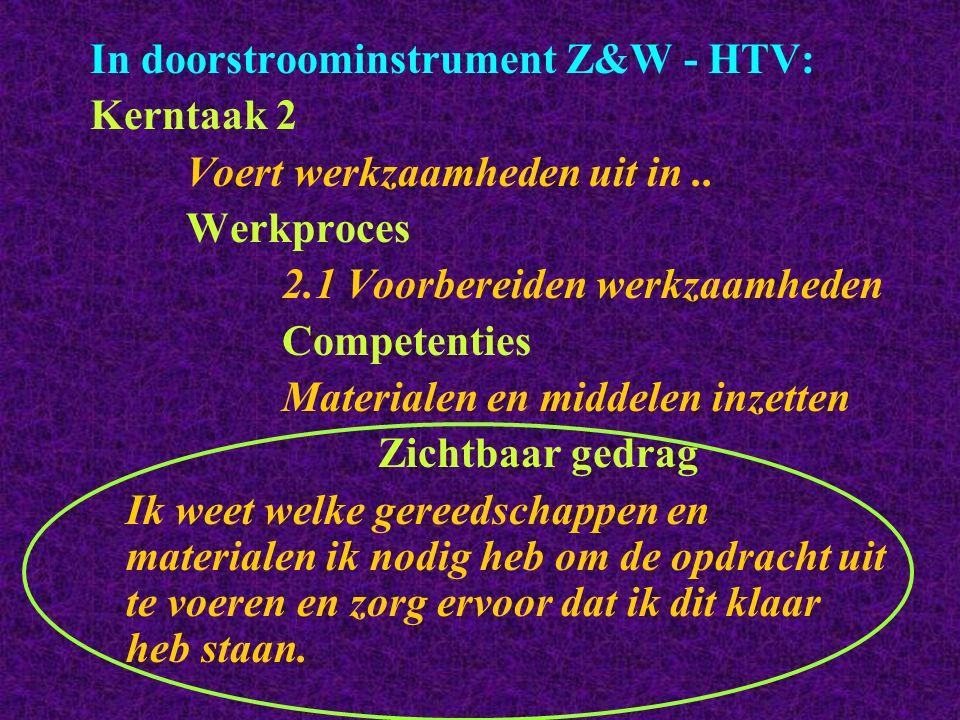 In doorstroominstrument Z&W - HTV: