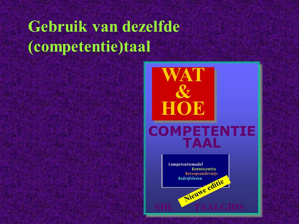 Gebruik van dezelfde (competentie)taal