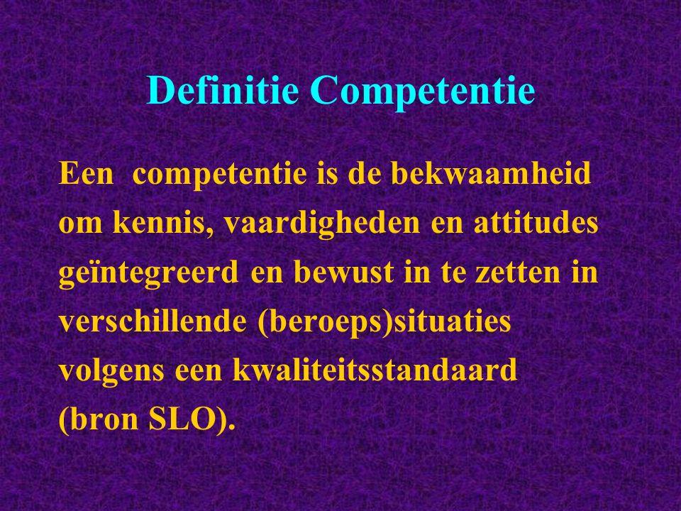 Definitie Competentie