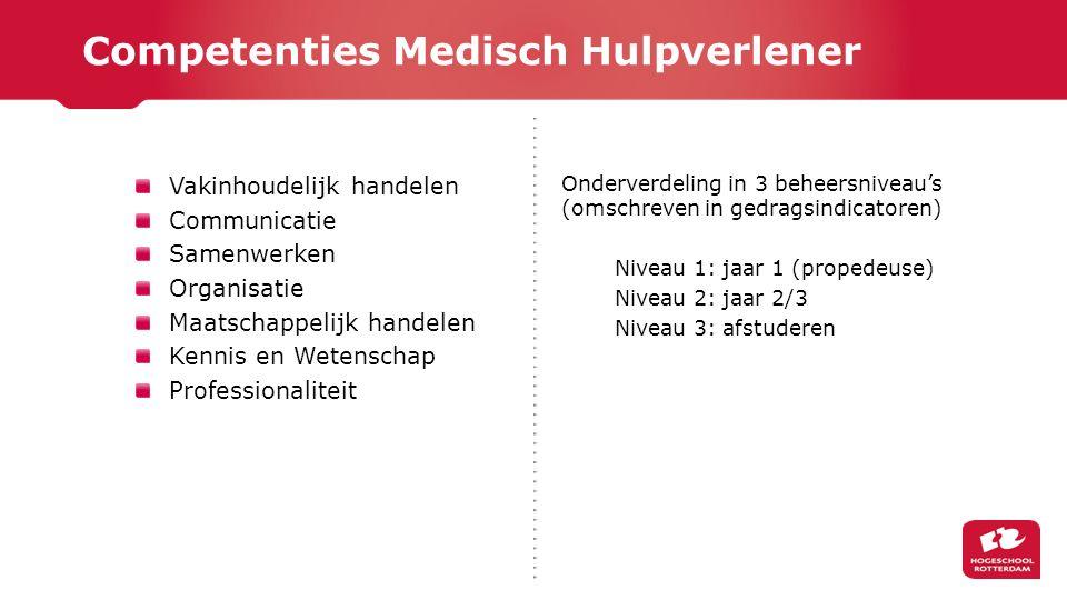 Competenties Medisch Hulpverlener