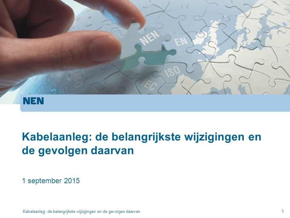 Kabelaanleg: de belangrijkste wijzigingen en de gevolgen daarvan 1 september 2015