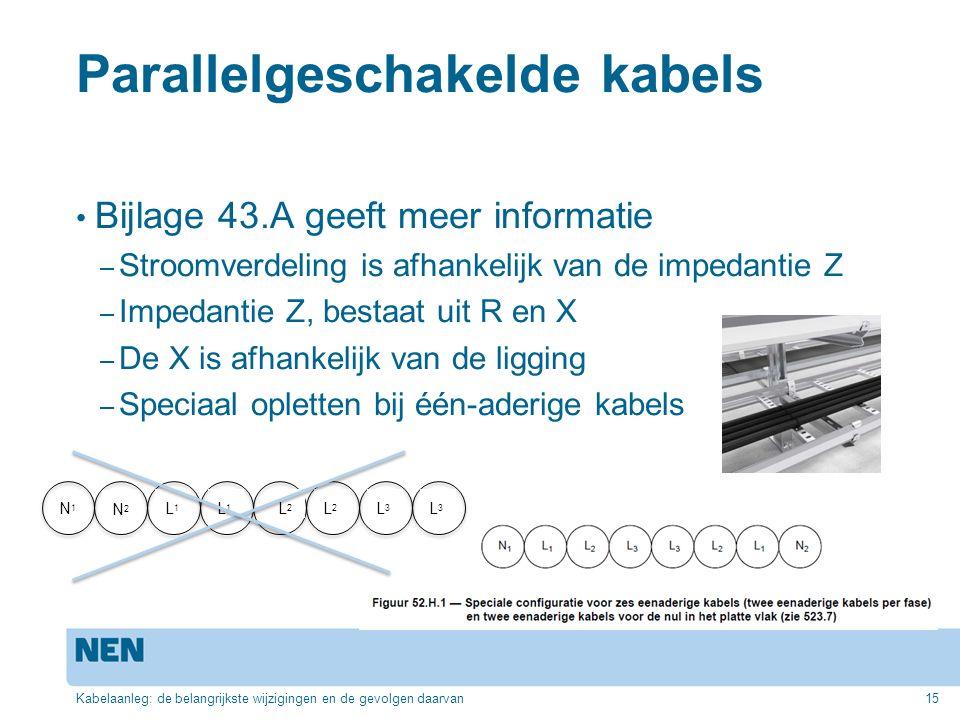 Parallelgeschakelde kabels