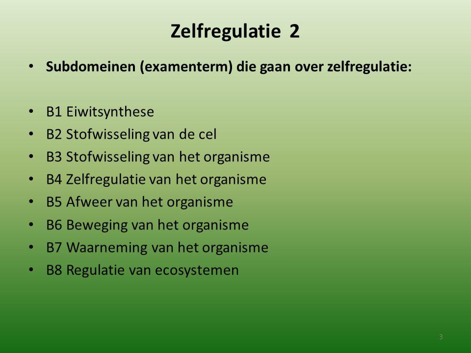 Zelfregulatie 2 Subdomeinen (examenterm) die gaan over zelfregulatie: