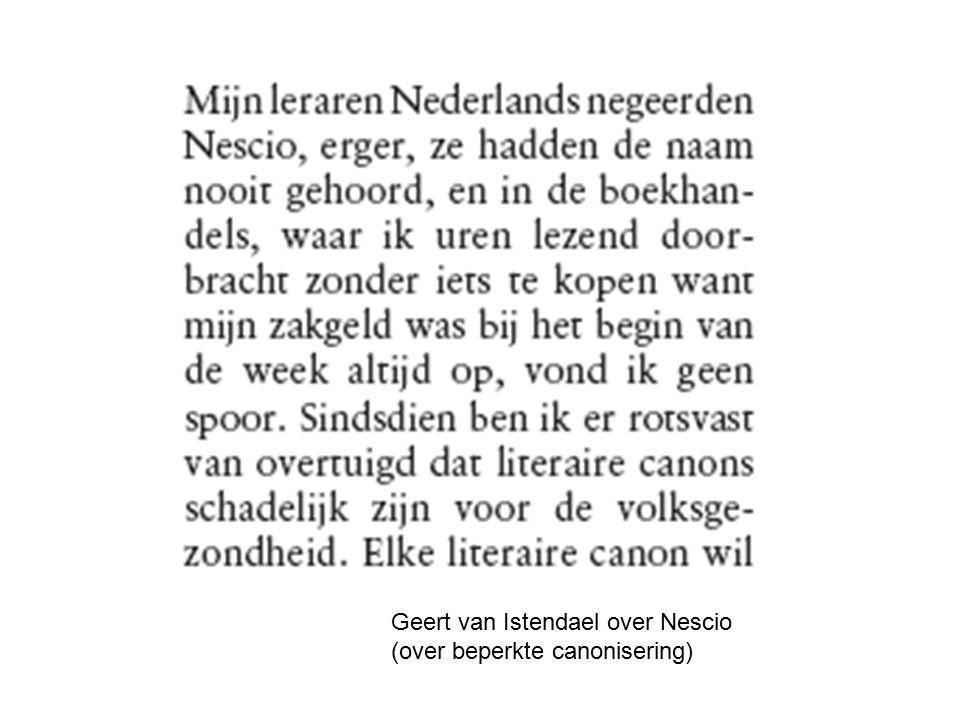 Geert van Istendael over Nescio