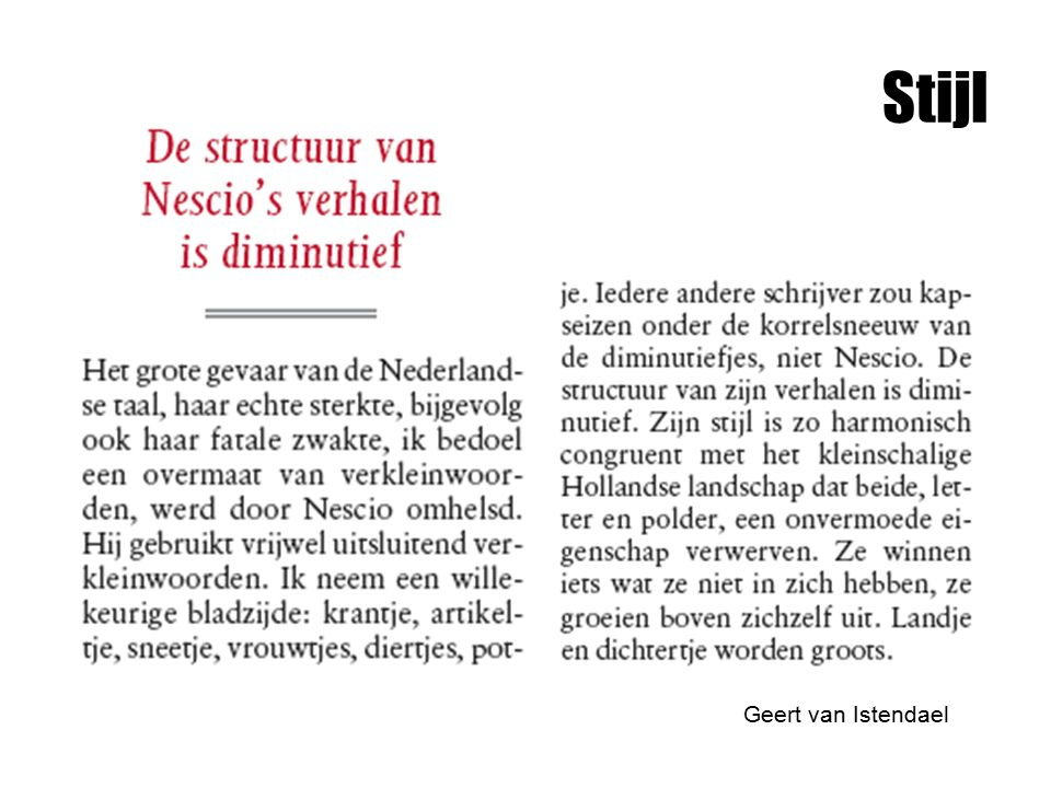 Stijl Geert van Istendael