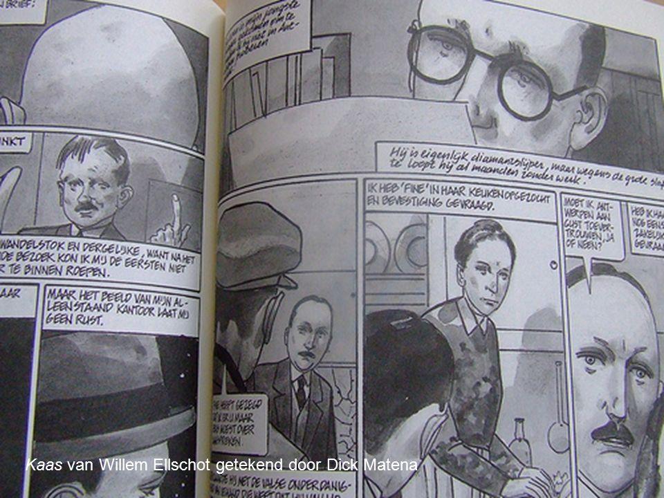 Kaas van Willem Ellschot getekend door Dick Matena