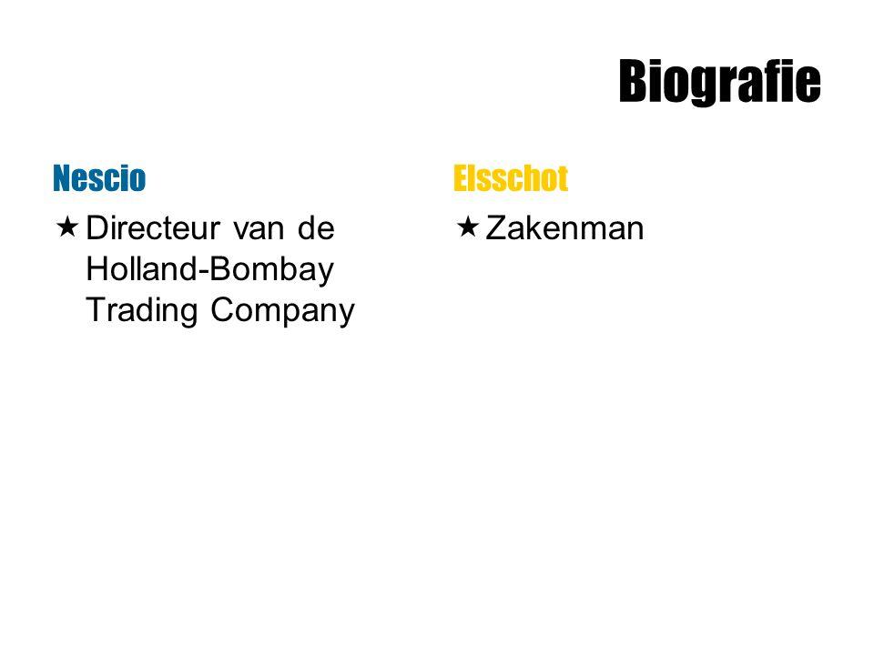 Biografie Nescio Directeur van de Holland-Bombay Trading Company