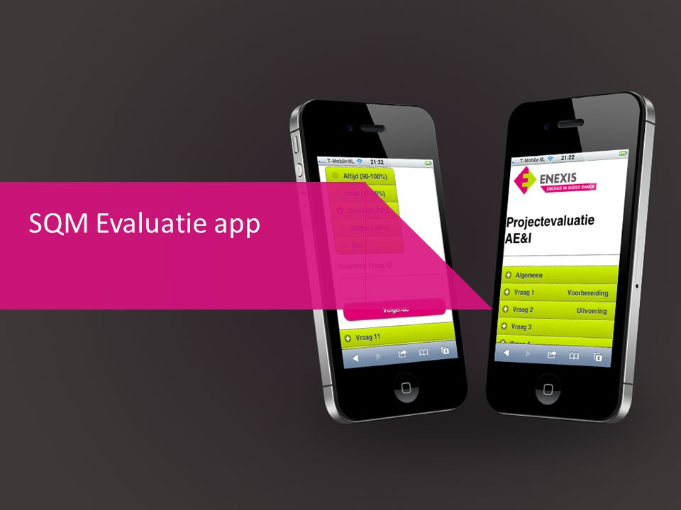SQM Evaluatie app