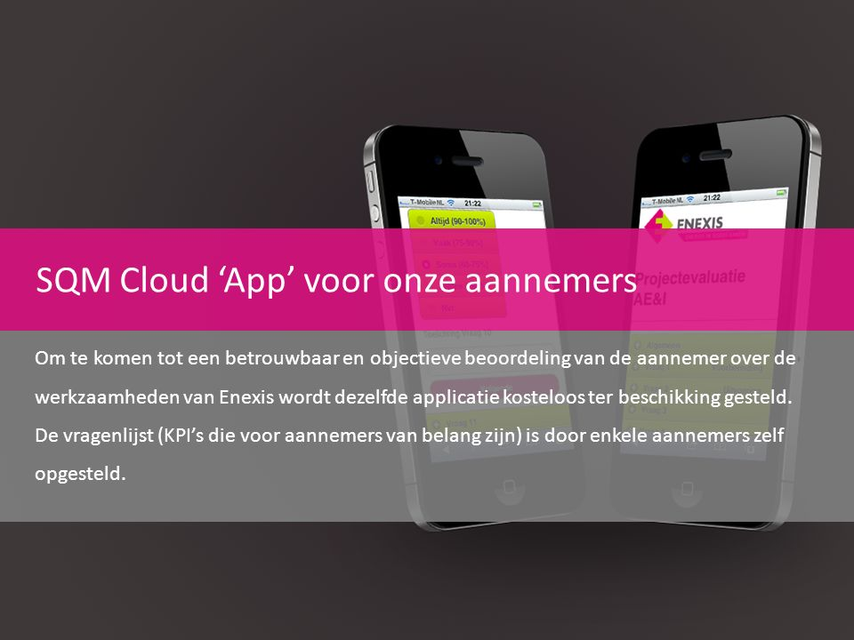 SQM Cloud 'App' voor onze aannemers