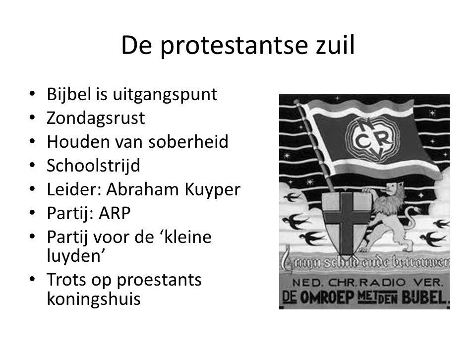 De protestantse zuil Bijbel is uitgangspunt Zondagsrust