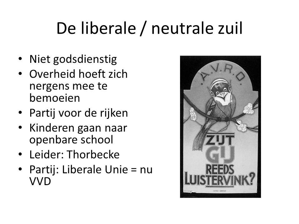 De liberale / neutrale zuil