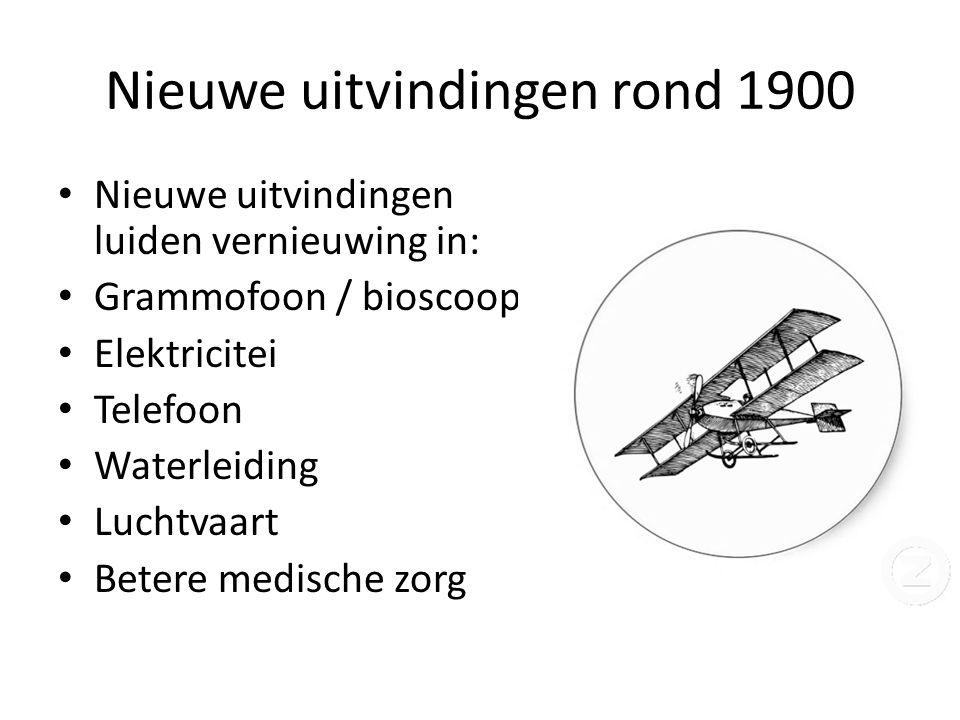 Nieuwe uitvindingen rond 1900