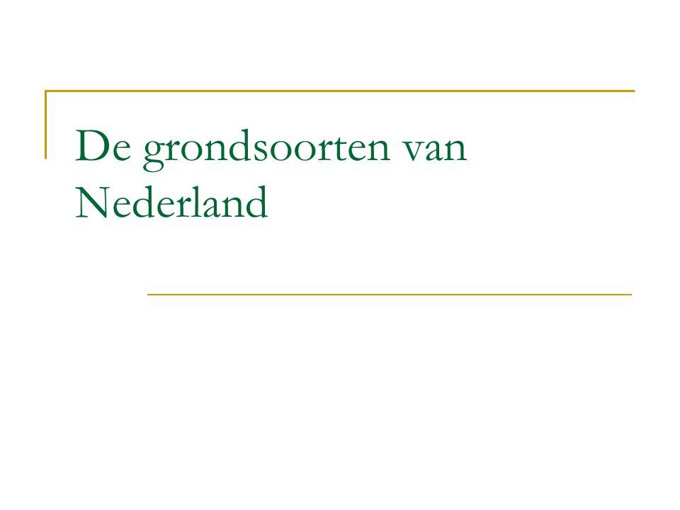 De grondsoorten van Nederland
