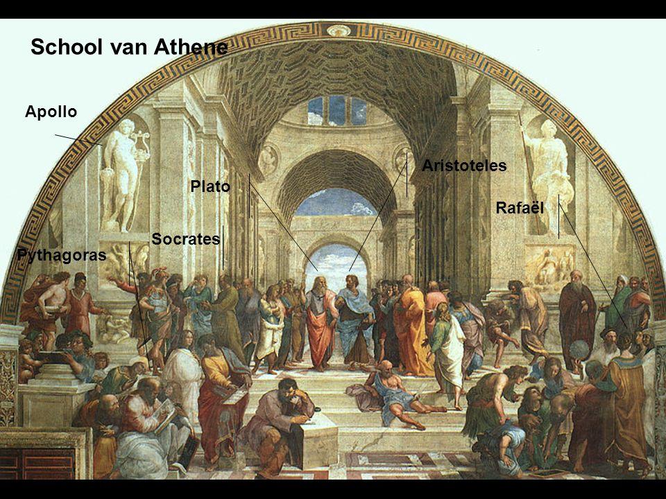 School van Athene Apollo Aristoteles Plato Rafaël Socrates Pythagoras