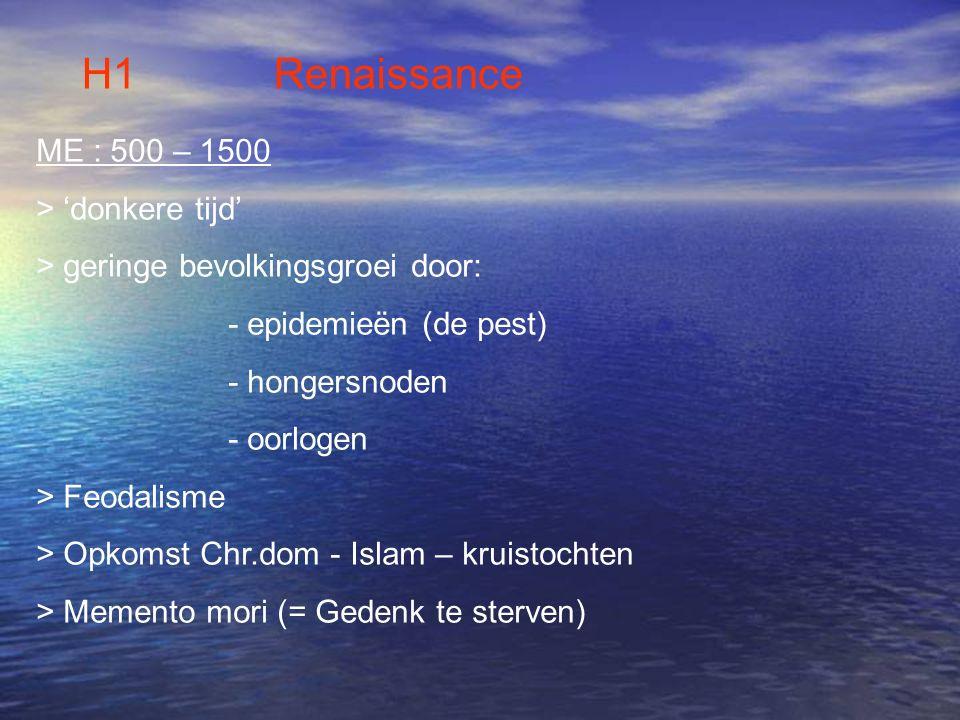 H1 Renaissance ME : 500 – 1500 > 'donkere tijd'