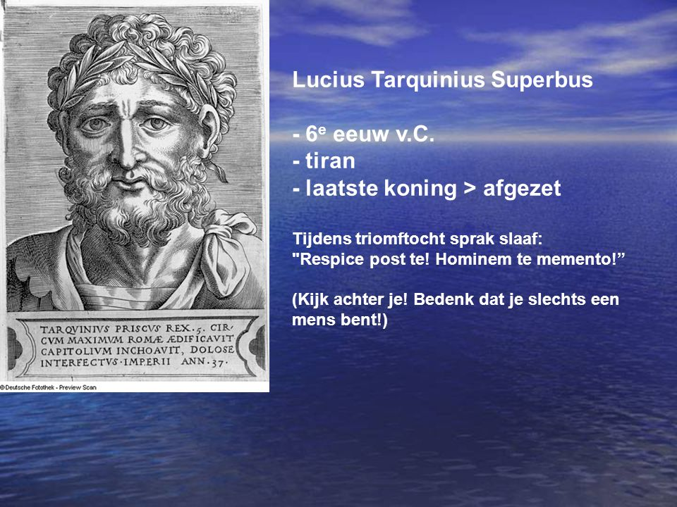 Lucius Tarquinius Superbus - 6e eeuw v.C. - tiran