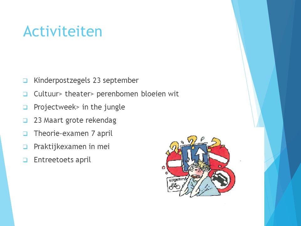 Activiteiten Kinderpostzegels 23 september
