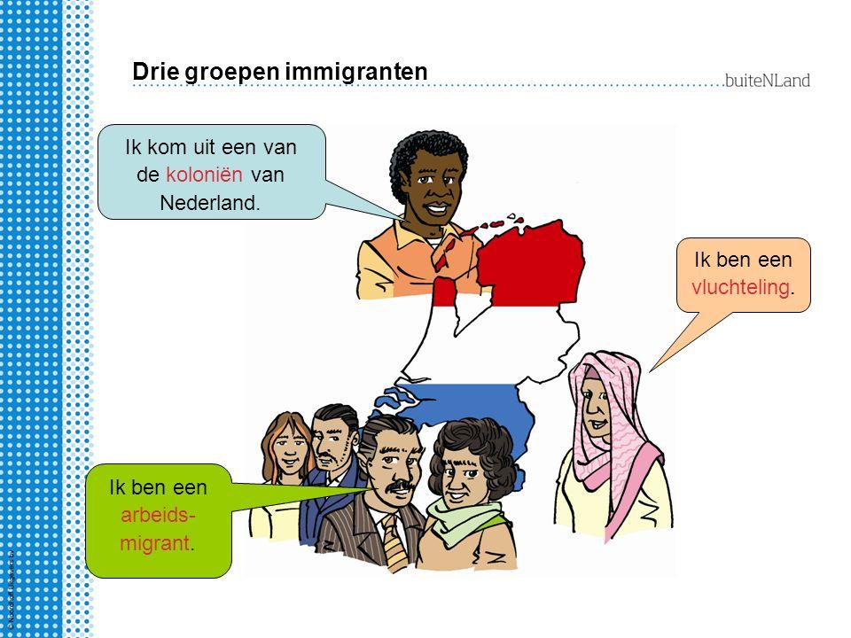 Drie groepen immigranten