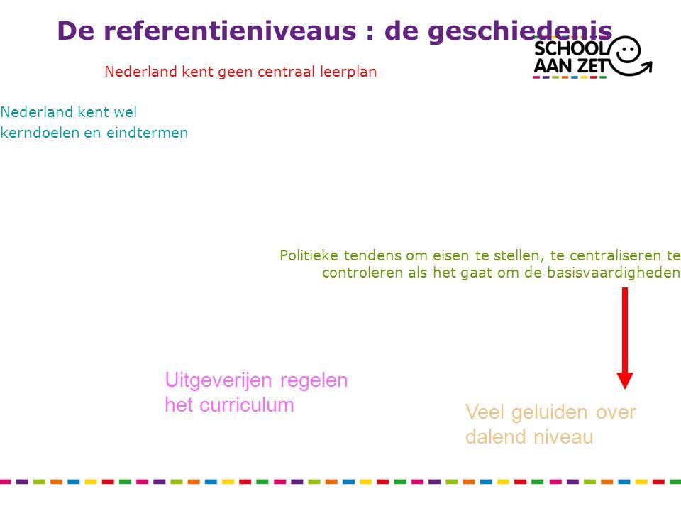 De referentieniveaus : de geschiedenis