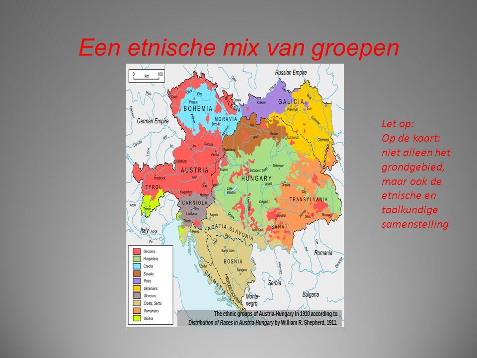 Een etnische mix van groepen