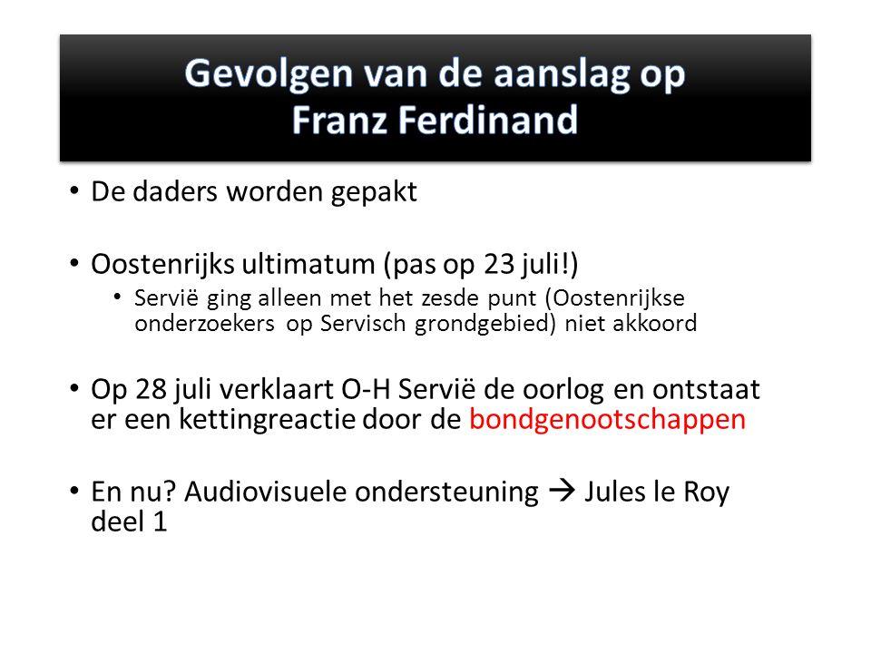 Gevolgen van de aanslag op Franz Ferdinand