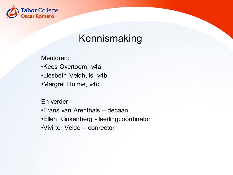 Kennismaking Mentoren: Kees Overtoom, v4a Liesbeth Veldhuis, v4b