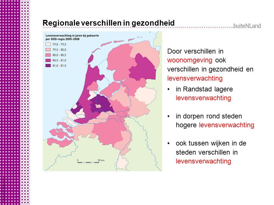 Regionale verschillen in gezondheid