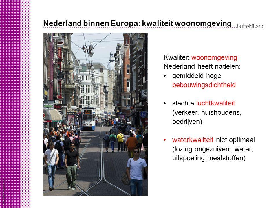 Nederland binnen Europa: kwaliteit woonomgeving