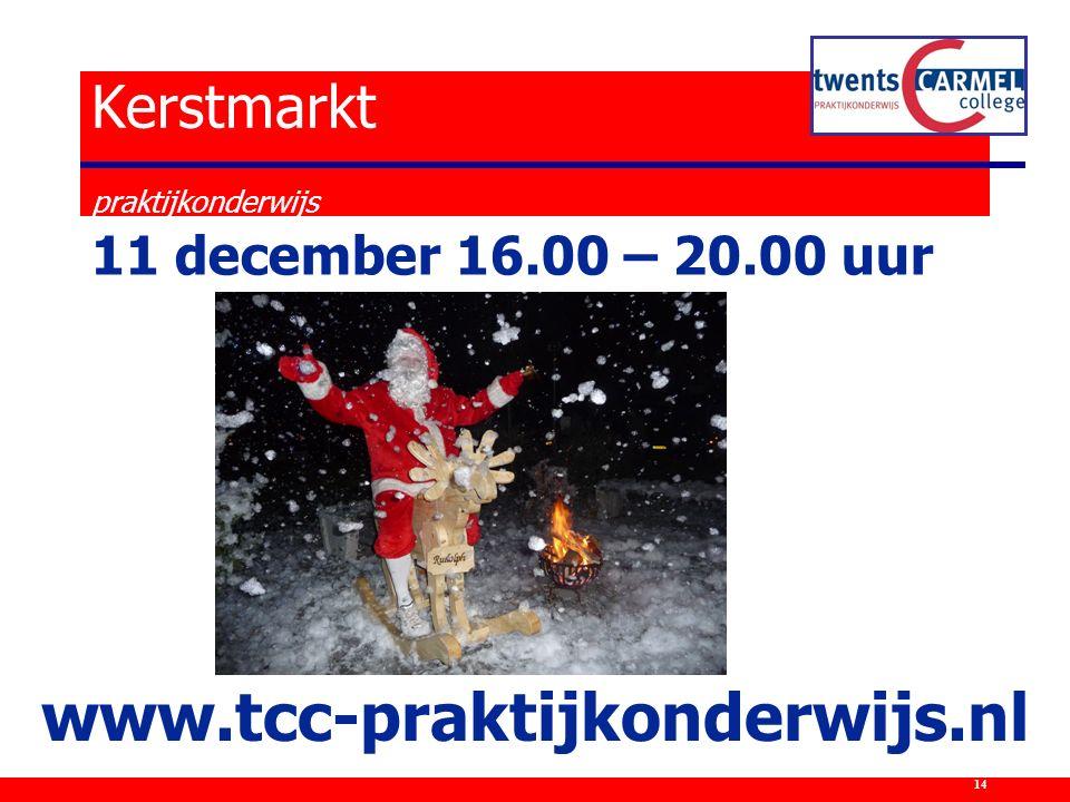 Kerstmarkt praktijkonderwijs