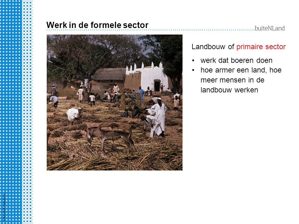 Werk in de formele sector