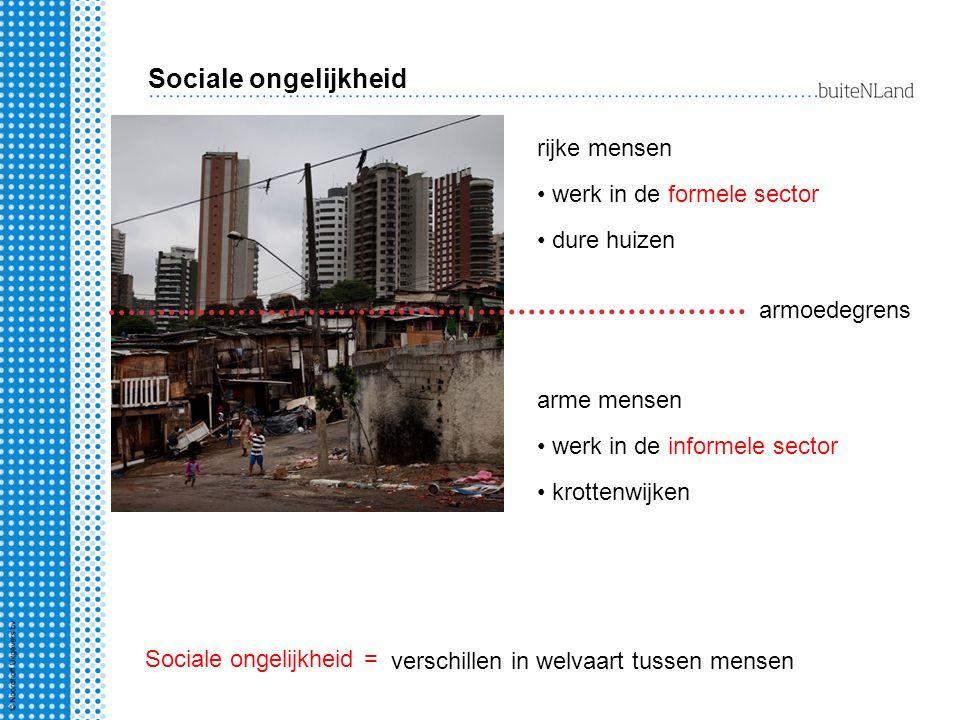 Sociale ongelijkheid rijke mensen werk in de formele sector