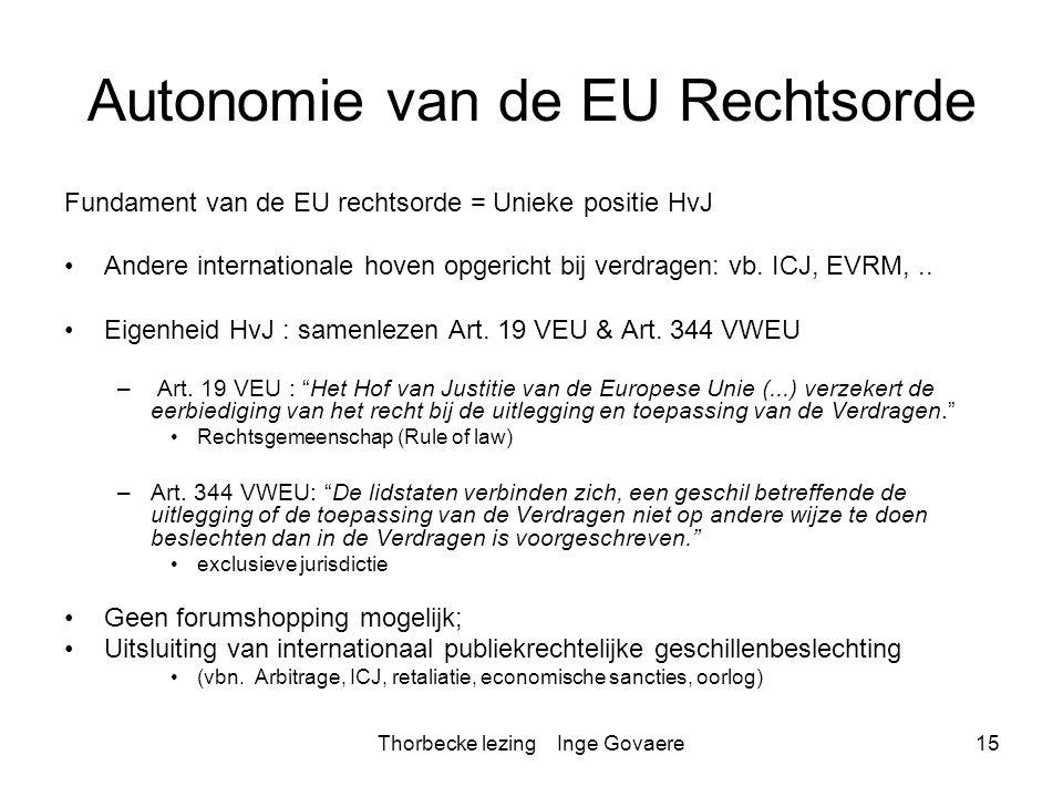 Autonomie van de EU Rechtsorde