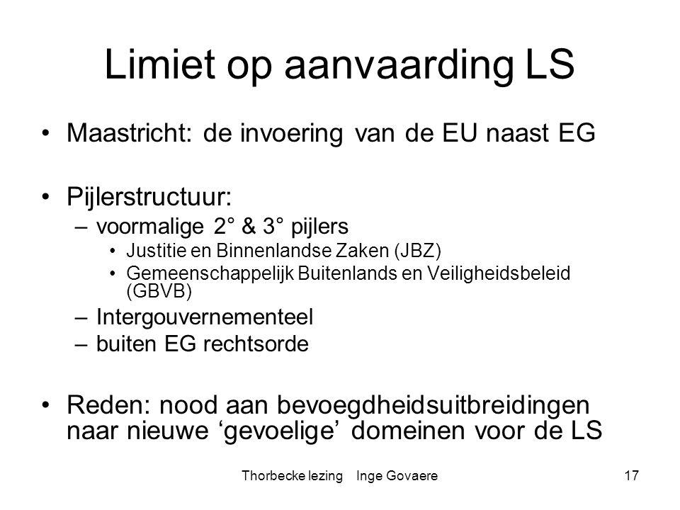 Limiet op aanvaarding LS