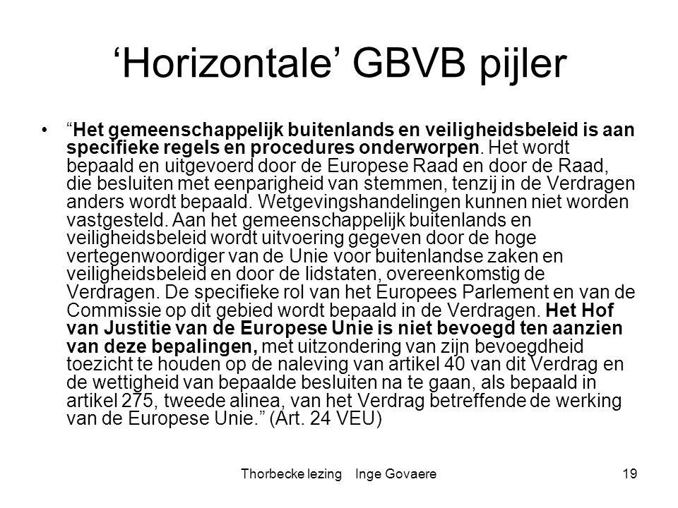 'Horizontale' GBVB pijler